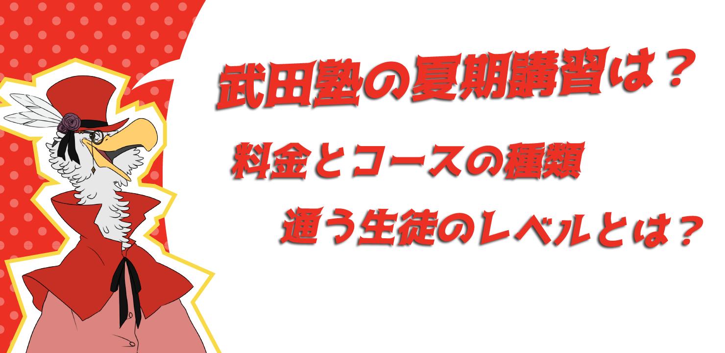 武田塾,夏期講習,イラスト